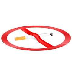 dangers of smoking vector image