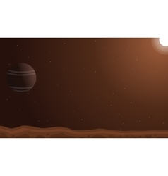 Desert planet background art vector