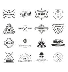 design logo vintage vector image