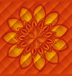 diwali flower decoration over orange background vector image