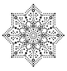 Dot art monochrome snowflake - christmas vector