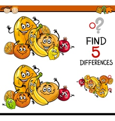 Educational task of differences vector