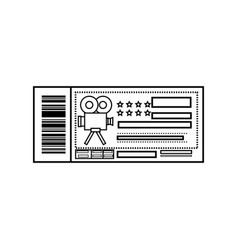 entrance ticket paper vector image