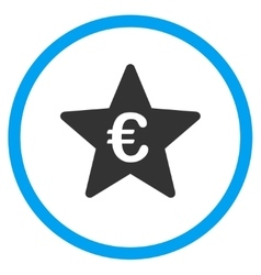 Euro Hit Parade Star Rounded Icon vector