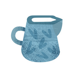 Flat icon of bright blue jug with texture vector