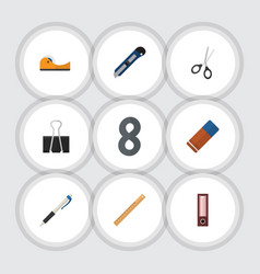 Flat icon tool set of straightedge dossier vector