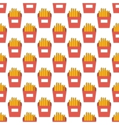 French fries pattern seamless vector