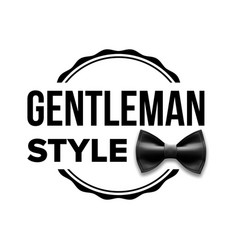gentleman label design classic sir bow vector image