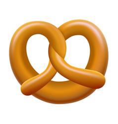 German pretzel mockup realistic style vector