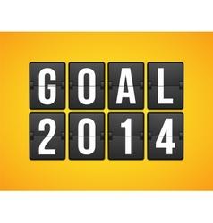 Goal football soccer concept letter vector