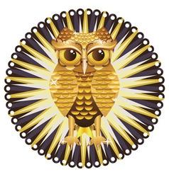 Golden Owl2 vector image