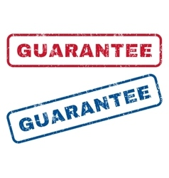 Guarantee Rubber Stamps vector