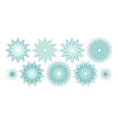 guilloches or abstract snowflakes vector image