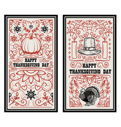 Happy thanksgiving day banner template with vector