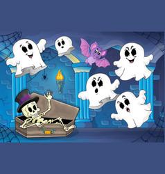 haunted castle interior theme 2 vector image