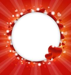 Hearts Circular Frame vector image