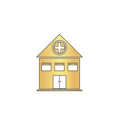 Hospital computer symbol vector