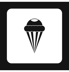 Ice cream cone with frosting icon simple style vector