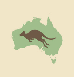 Kangaroo and australia vintage style vector