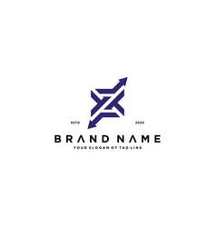 Letter z and arrow logo design vector