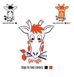 Logo giraffe face vector