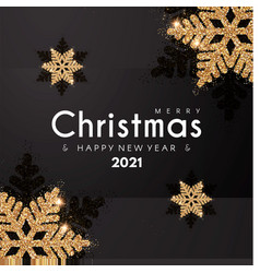 Merry christmas and happy new 2021 year elegant vector