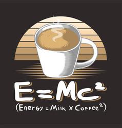 milk coffee glass retro vector image