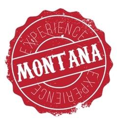 Montana stamp rubber grunge vector
