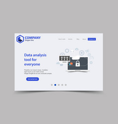 new trendy website landing page theme template vector image