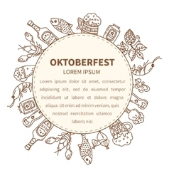 Oktoberfest invitation template vector