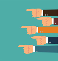 pointing hands hand with pointing finger vector image
