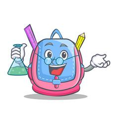 Professor school bag character cartoon vector