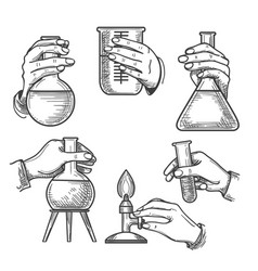 Retro chemical experiments vector