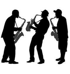 Saxophone player silhouette vector
