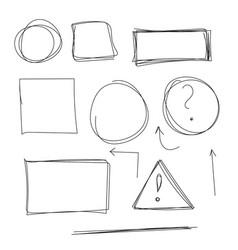 Set hand drawn text box vector