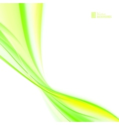 Shining green flow vector image
