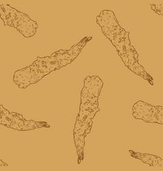 shrimp tempura seamless pattern vector image
