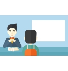 Smiling human resource manager vector image
