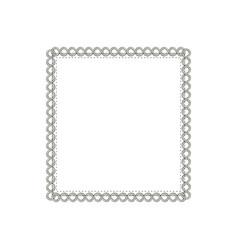 Square elegant frame icon vector