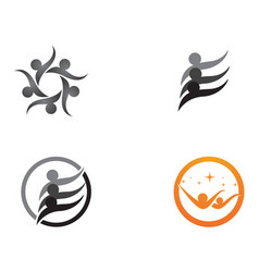 star community people group logo and symbols vector image