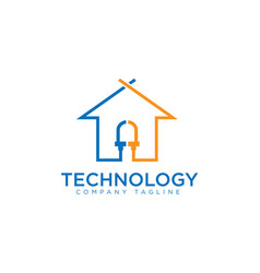 technology house vector image