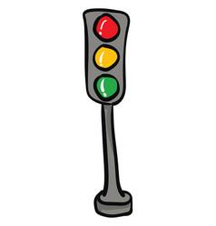 traffic light hand drawn design on white vector image