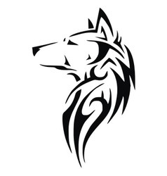 Tribal Wolf Head vector image