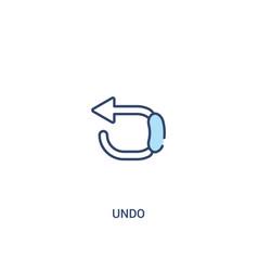 Undo concept 2 colored icon simple line element vector