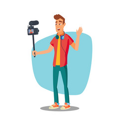 Video blogger lifestyle video clip vector