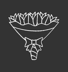wedding bouquet chalk icon vector image