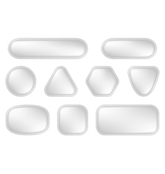 White buttons for web vector