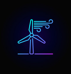 Wind energy linear colorful icon vector