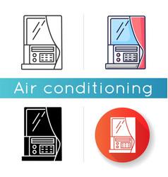Window air conditioner icon vector