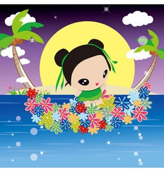 anime island vector image vector image